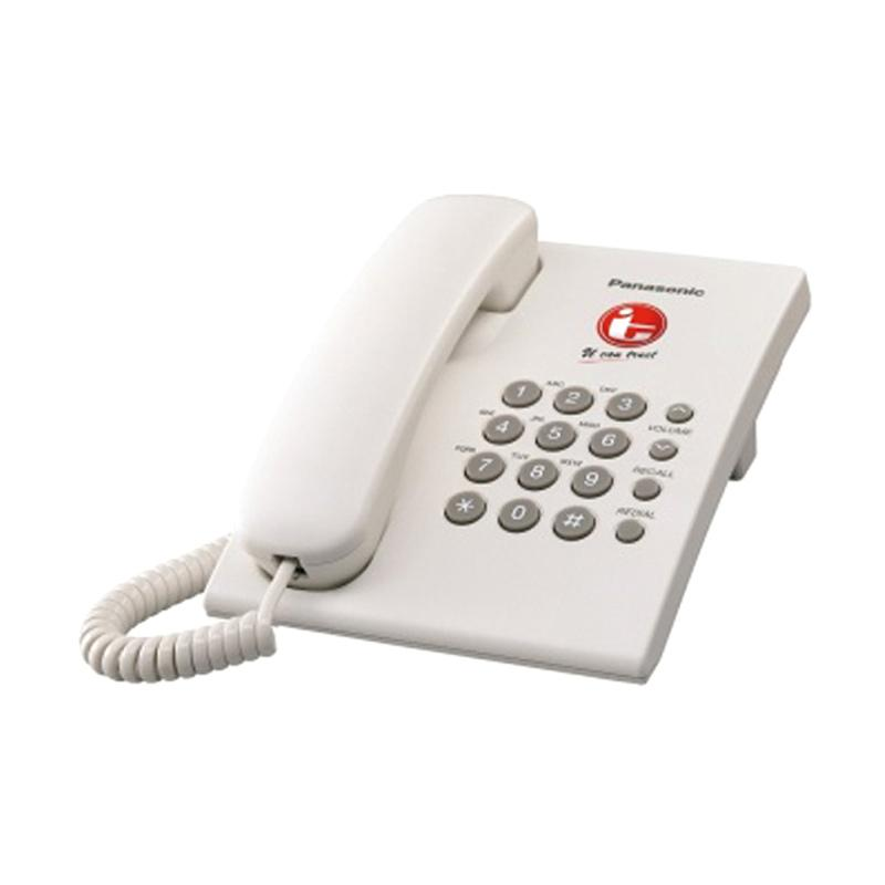 harga Telepon Kabel Single Line Panasonic KX-TS505 - Telephone Kantor Rumah - WHITE Blibli.com