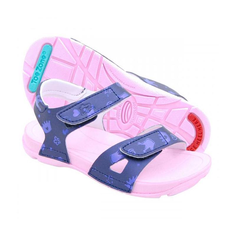 Toezone Kids Kei Ch Sepatu Anak Perempuan - Navy Pink