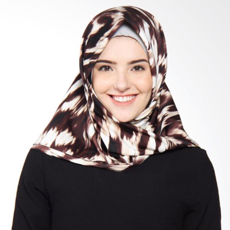 Rauza Rauza Miami Midi Square Jilbab Segiempat - Brown