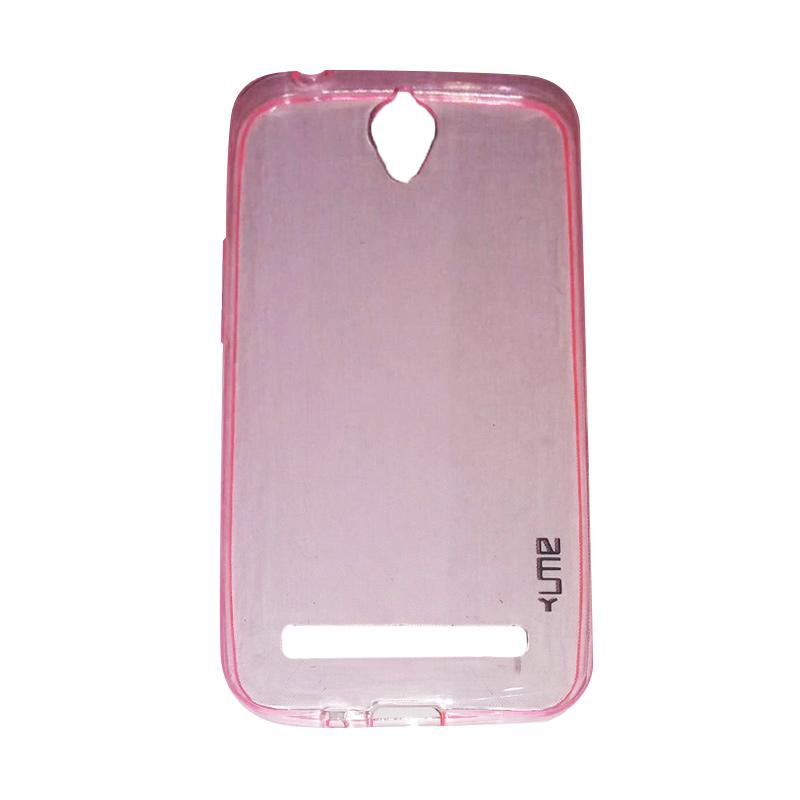 Ume Ultrathin Silicone Jelly Softcase Casing for Asus Zenfone Go ZC451TG 4.5 Inch - Pink