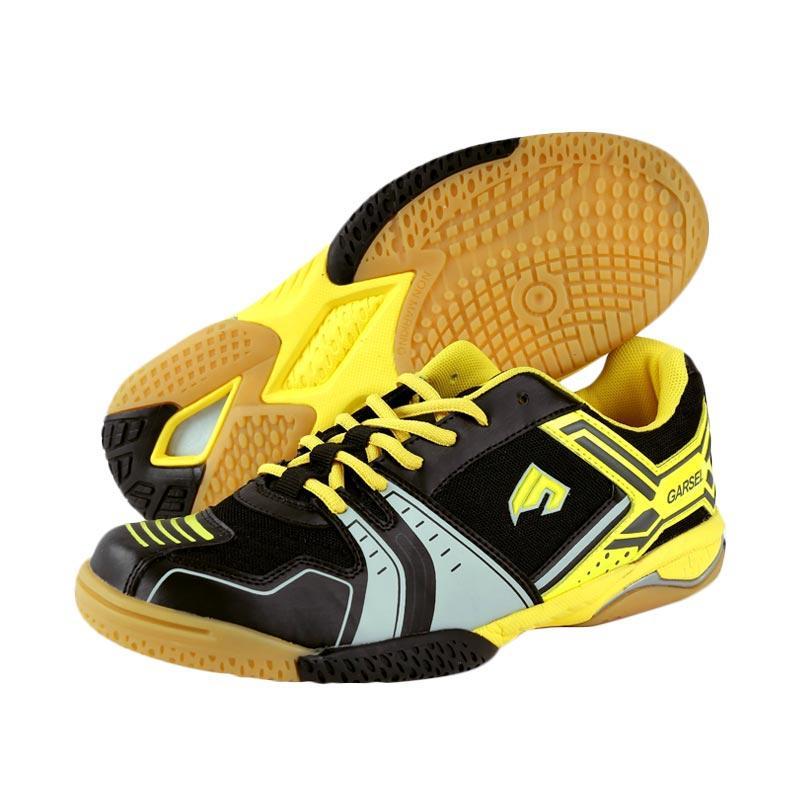 Garsel Sepatu Badminton Pria - Hitam Kombinasi [GRE 7757]