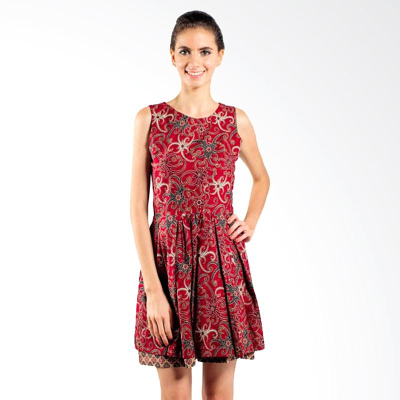 harga Rianty Dress Ratu Alma Batik Wanita - Red Blibli.com