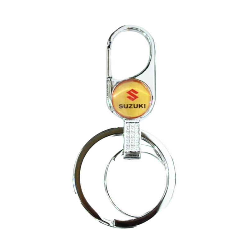 Raja Motor Bulat Logo Suzuki Gantungan Kunci Mobil - Silver [GAK9101-Suzuki-Silver]