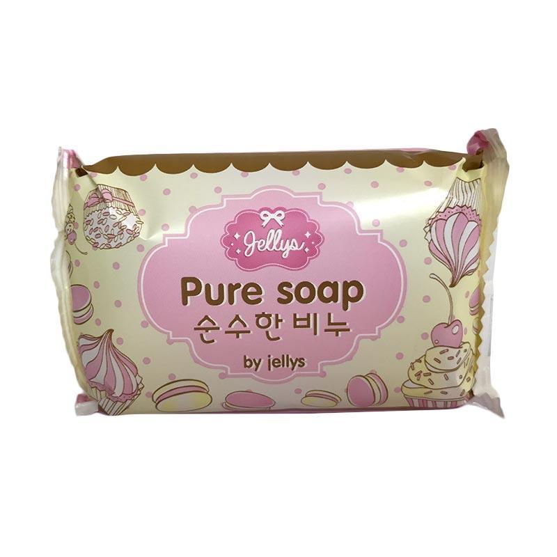 Jellys Pure Soap Whitening Asli Hologram sabun Mandi