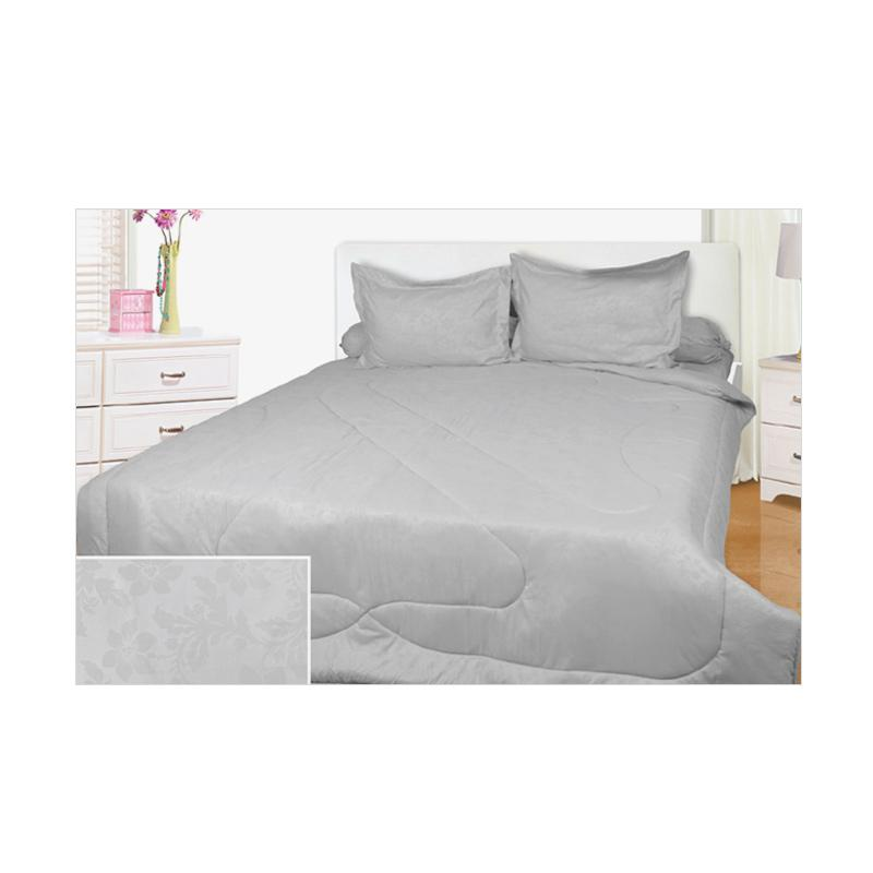 My Love Full Heart Set Sprei dan Bed Cover - Grey [180 x 200 x 30 cm]