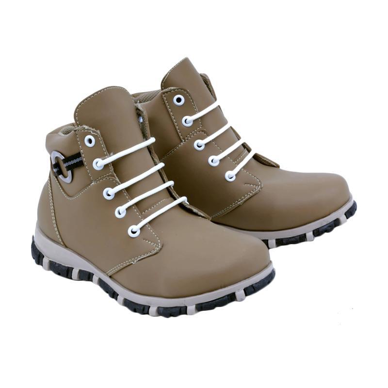 Garsel GMU 9531 Sneakers Shoes Sepatu Anak Laki-Laki - Tan