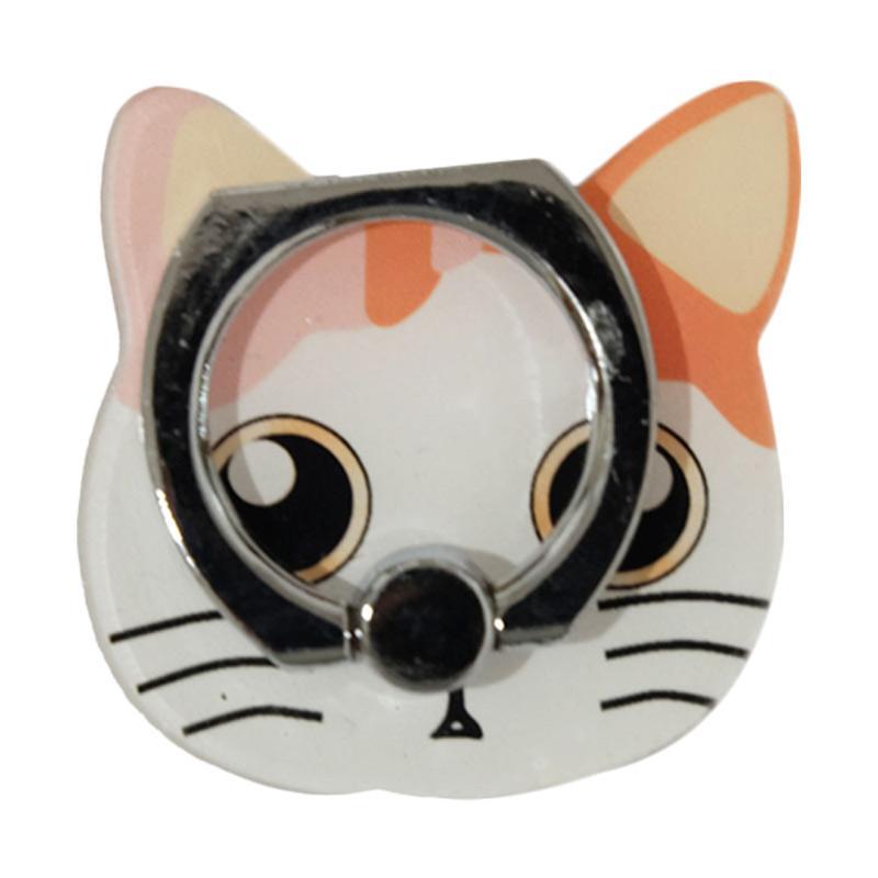 QCF 3D Animasi Sad Cat Ring Stand Holder Smartphone