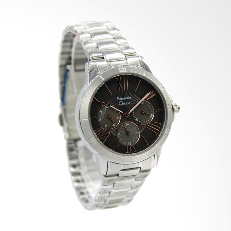 Alexandre Christie 2650 Jam Tangan Wanita - Silver Black