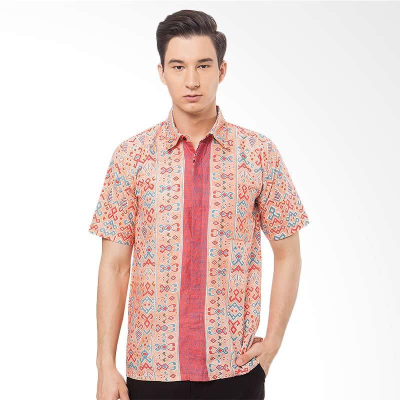 harga Batik Trusmi Hem Keris Batik Pria - Orange Blibli.com