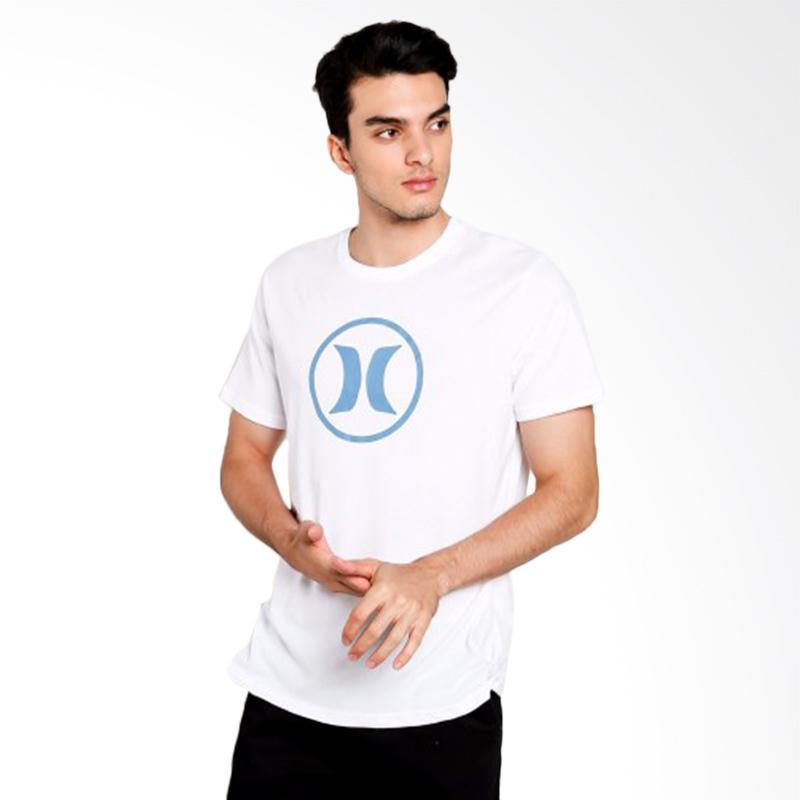 Hurley Block Party T-Shirt Kaos Pria - White [AMTSBKDF2_10AB]