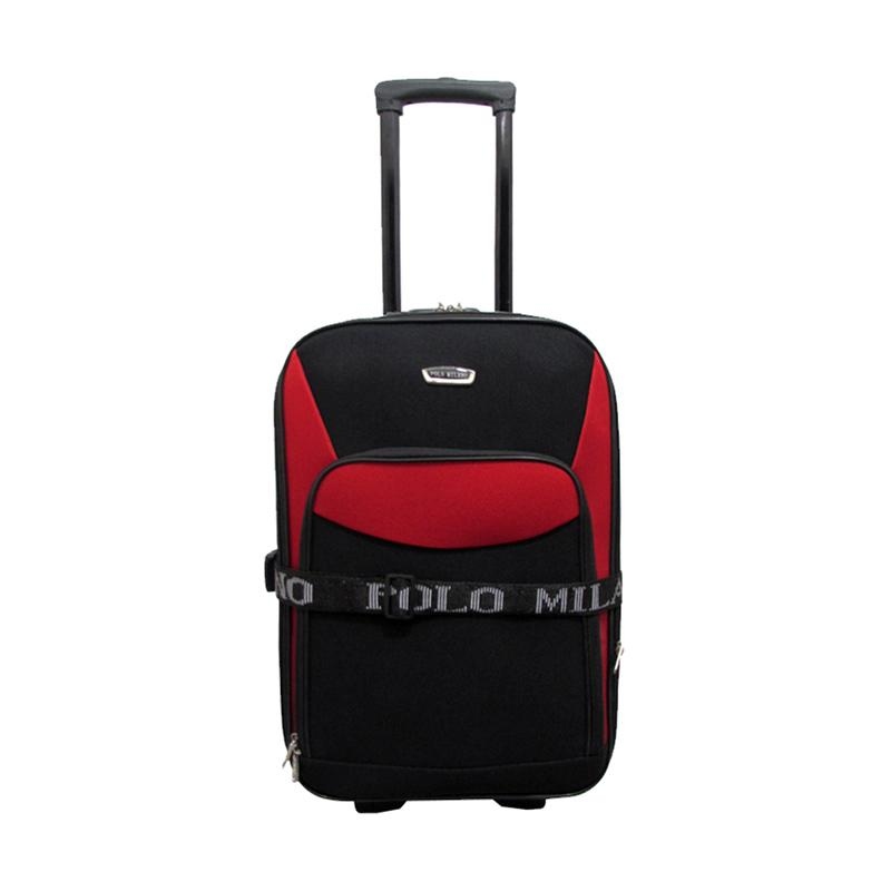 Polo Milano Carry Cart 217 Expandable Trolley Bag - Red [20 Inch]