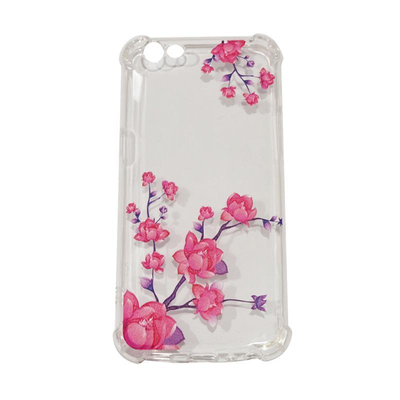 QCF Flower Bunga Mawar Anti Crack Anti Shock Silikon Softcase Casing for Oppo A57