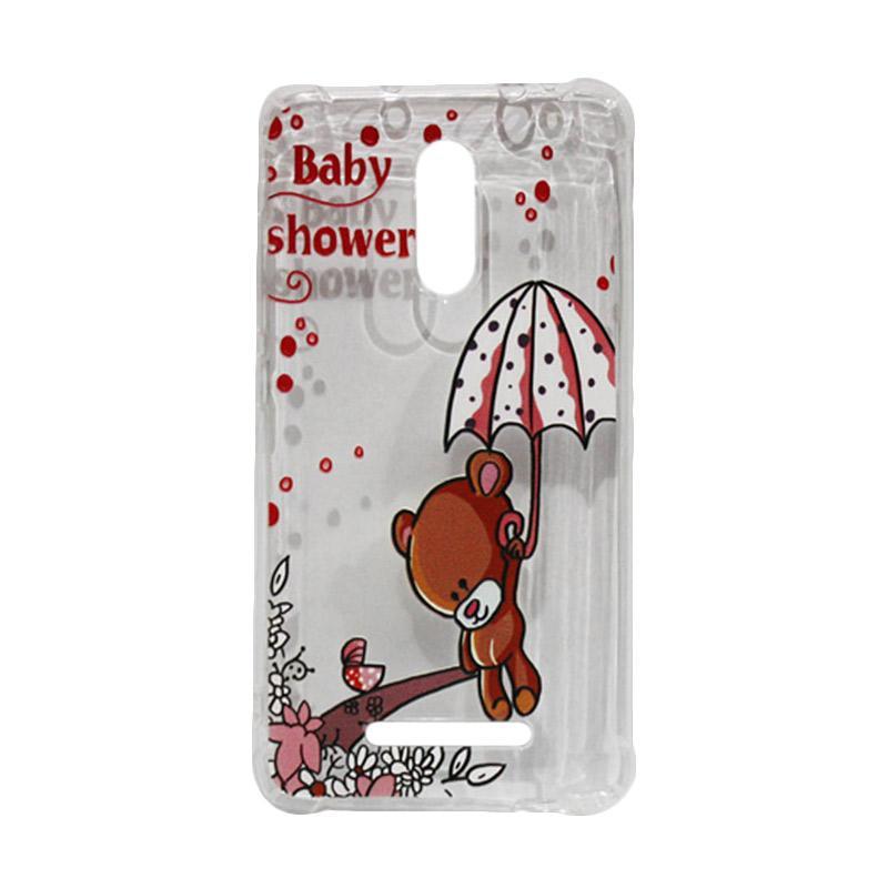 QCF Softcase Anti Crack Anti Shock Xiaomi Silicone Casing Gambar Bear Baby Shower + FREE Bumper Karet Animasi Random for Xiaomi Redmi Note 3