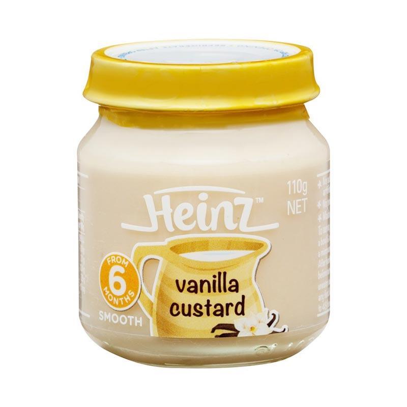 Heinz Smooth Vanilla Custard Makanan Bayi [110 g/6m+]