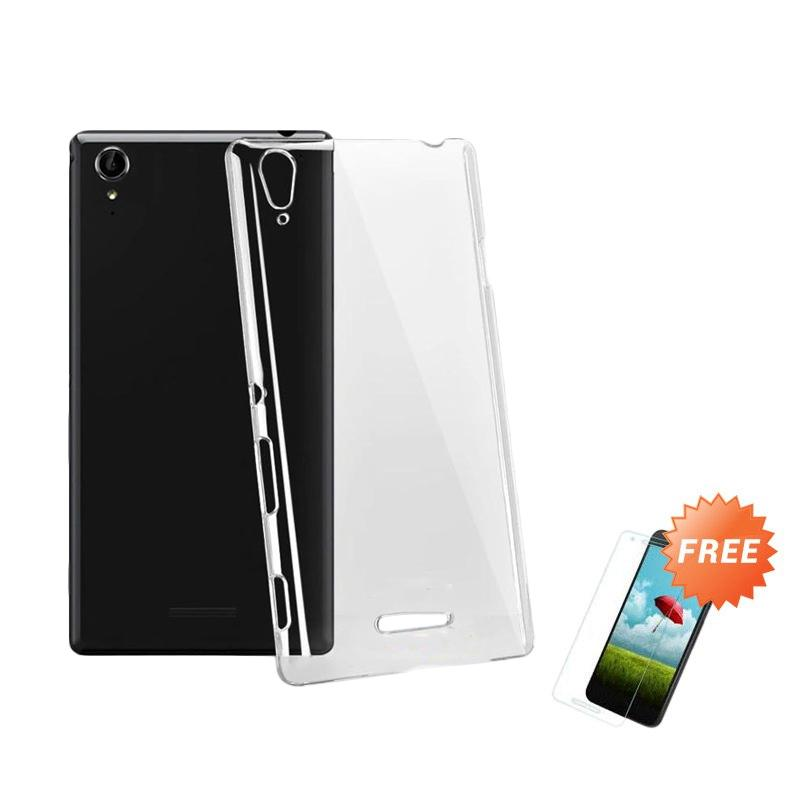 harga OEM Crystal Hardcase Casing for Sony Xperia T3 or D5102 - Clear + Free Tempered