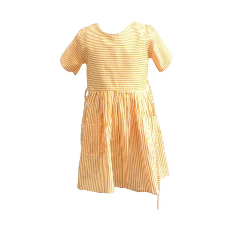 Kirana Kids Wear Dona Dress Anak - Yellow Stripe