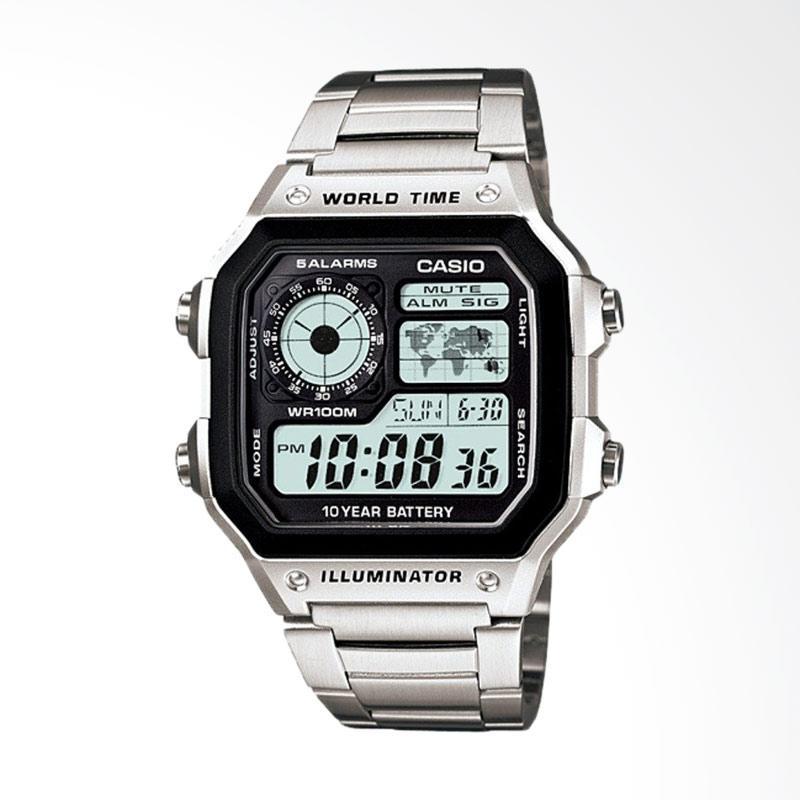 Casio Illuminator World Time Digital Jam Tangan Pria [AE-1200WHD-1AV]