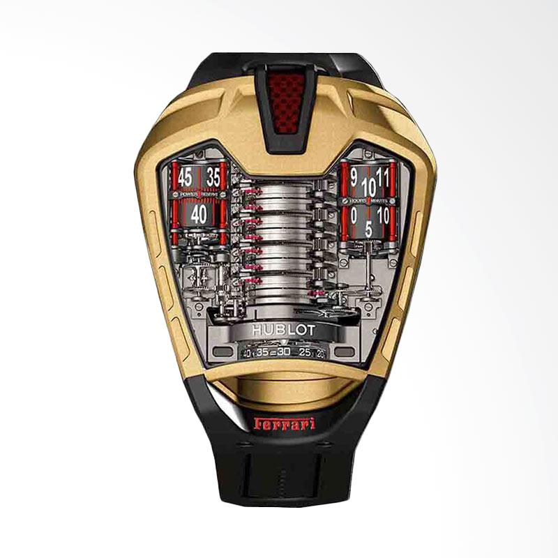 Alghani Watch Hublo LaFerrari Gold Strap Rubber Mechanical Machine Automatic Jam Tangan Pria [MP-05]
