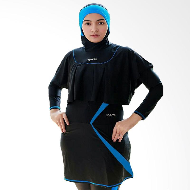 SPORTE Rompi Baju Renang Muslimah - Hitam Biru [SR 11]