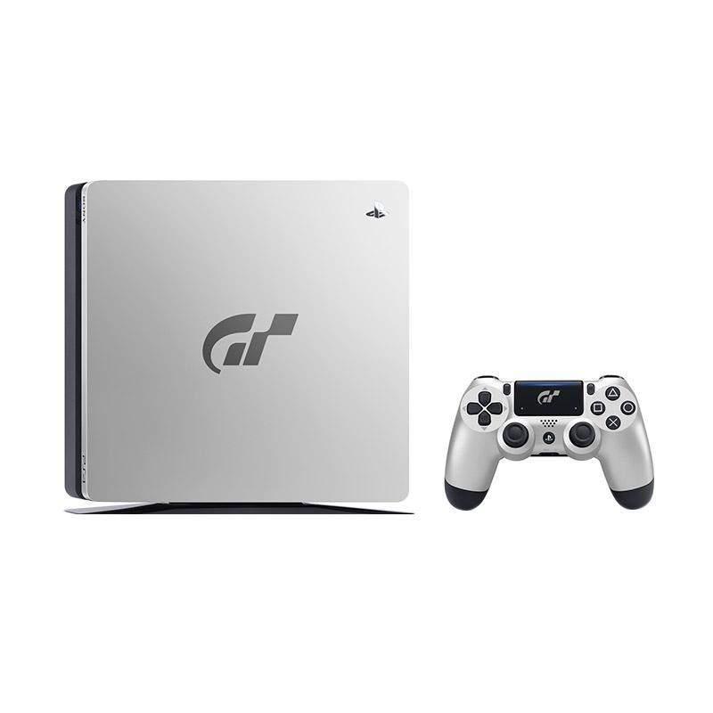 SONY Playstation 4 Slim Gran Turismo Edition Game Console - Silver [1 TB/ Non Bundle]