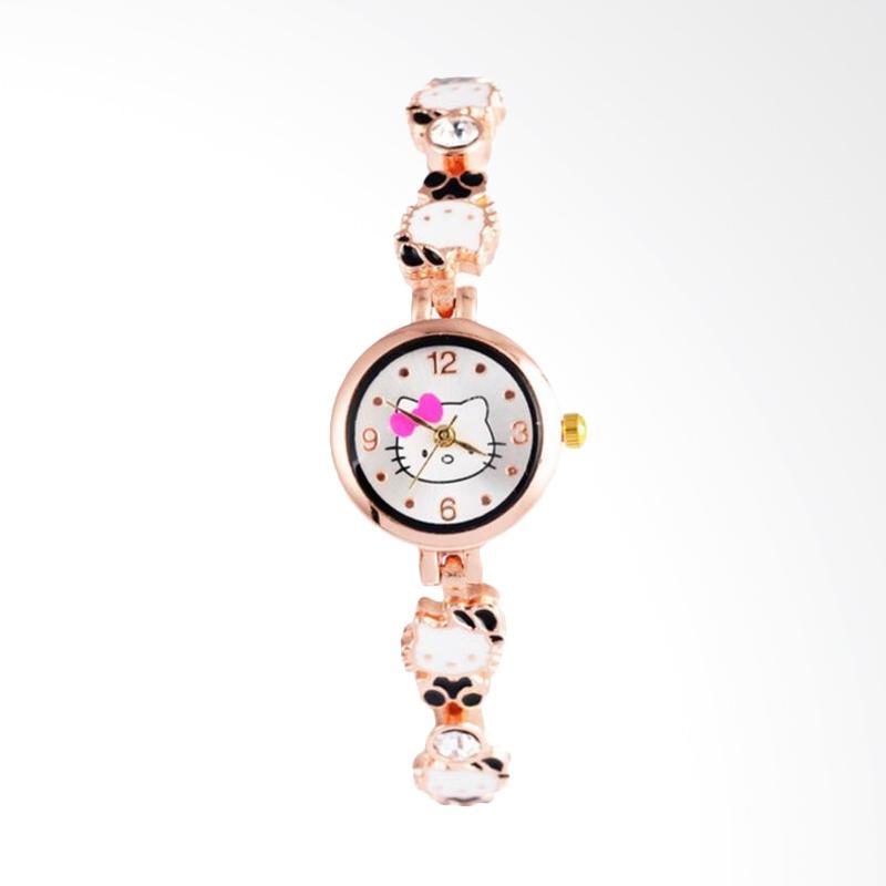 harga Hello Kitty WAT1516A Cute Cartoon Watch Jam Tangan Anak Perempuan - Black Blibli.com