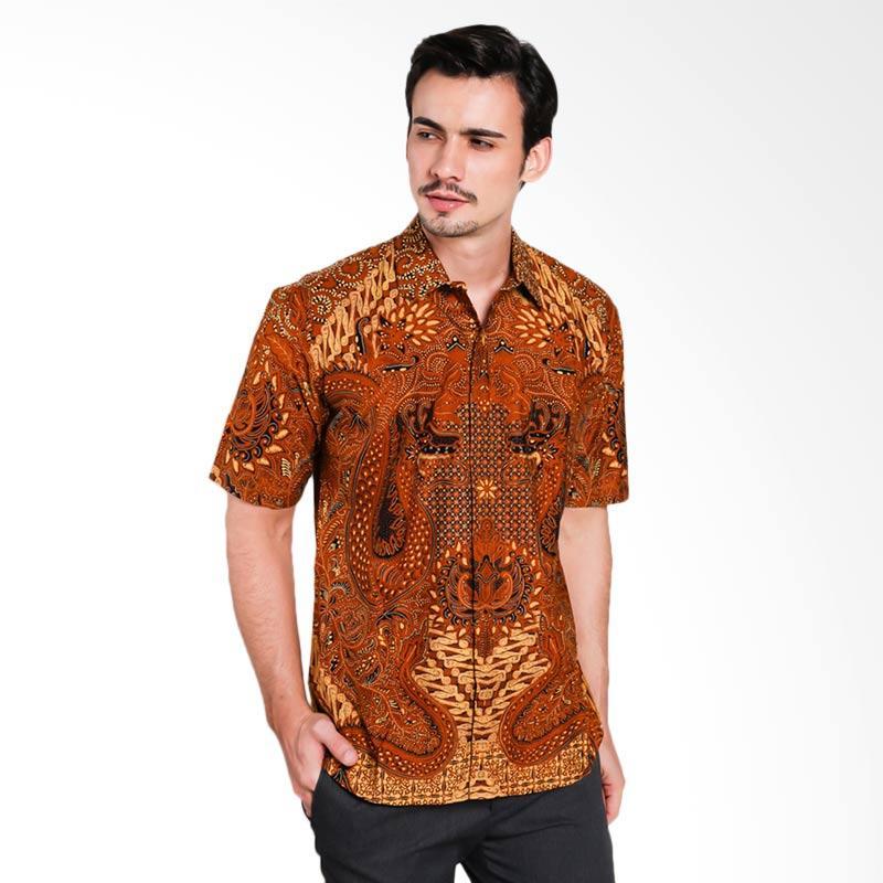 Batik Pria Tampan Kmpd Slim Prt Nogo Weling Kemeja Pria - Teak [PKMPD0442]