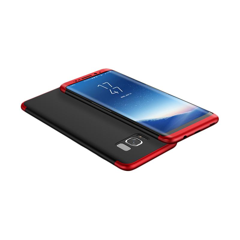 HM 360 Full Protection 3 in 1 Casing for Samsung S8 Plus - Black Red