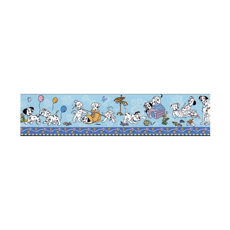 Hyundae Fixpix DT-23817 Dalmatian Border Sticker Dekorasi dinding