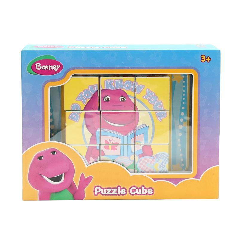 Happy Toon Barney Puzzle Cube Mainan Anak