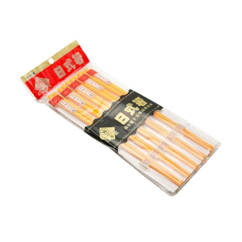 OEM Melamin Jepang Sumpit - Orange [10 Pasang/ 22 cm]
