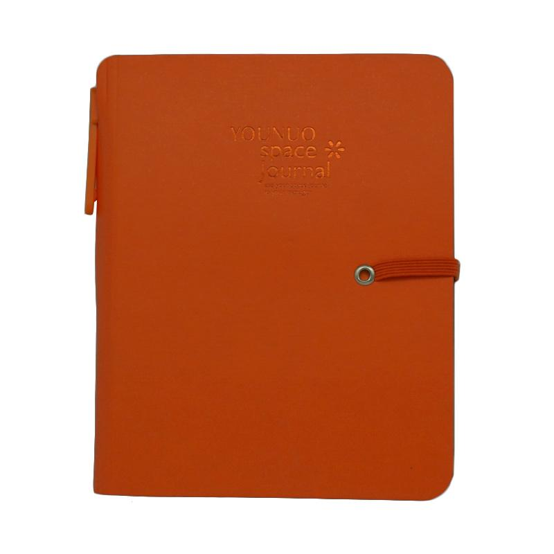 KarlyKaela Schedule Planning Notebook Small Buku Agenda Orange