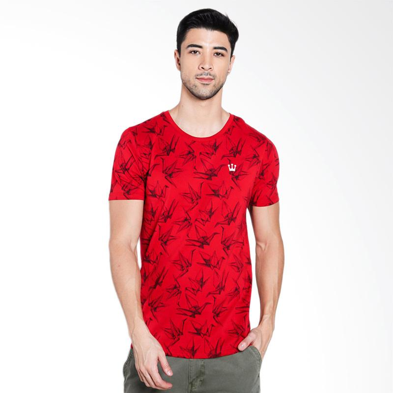 3SECOND Men 0512 T-Shirt Pria - Red