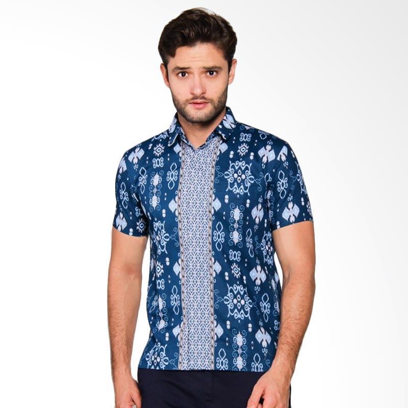 Adiwangsa Model Slim Fit Modern Baju Kemeja Batik Pria [009]