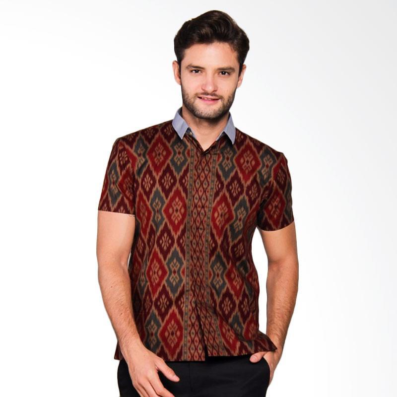 Adiwangsa Model Modern Slim Fit Baju Kemeja Batik Pria [018]