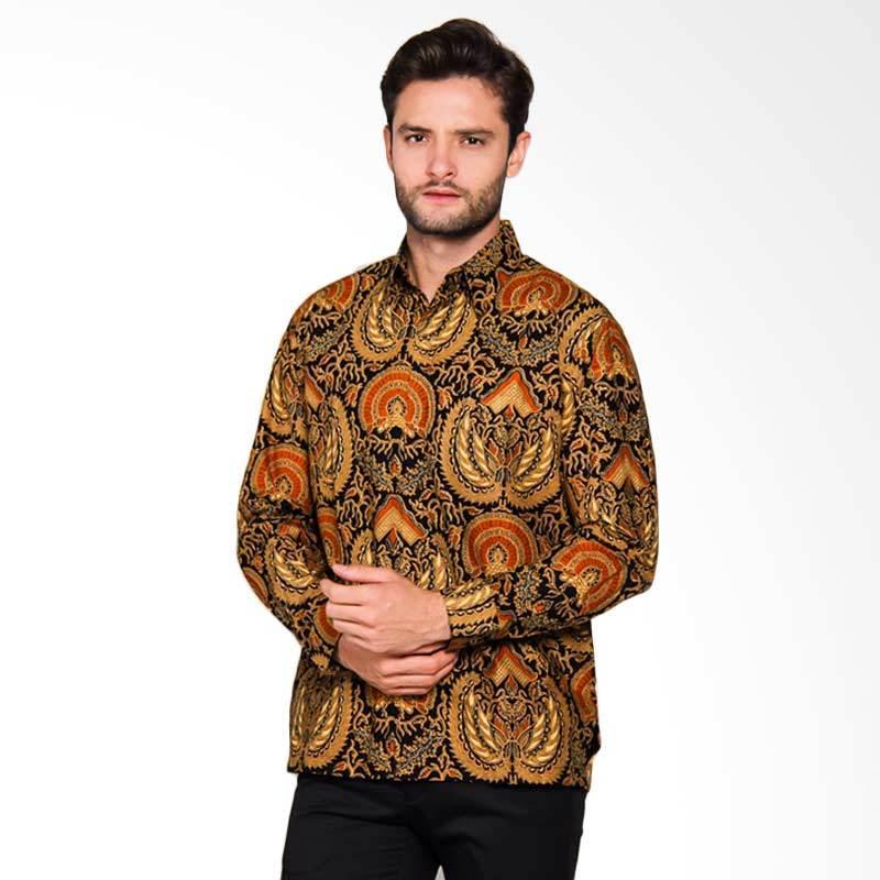 Adiwangsa Modern Slim Fit Kemeja Batik Pria - Orange [023]