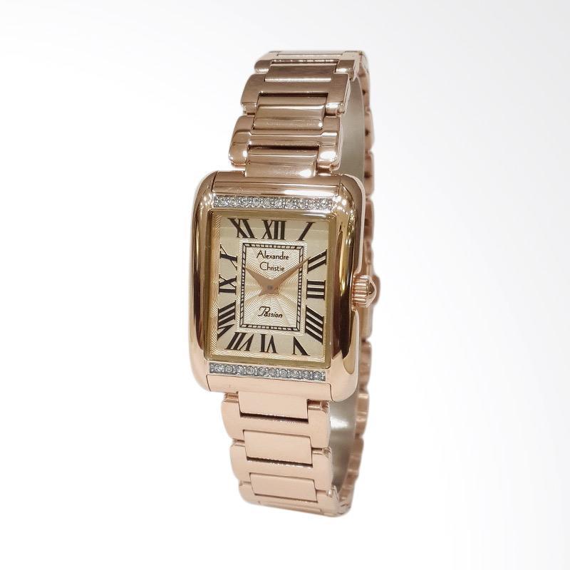 Alexandre Christie Passion 2660LHBRGRG Stainless Steel Bracelet Jam Tangan Wanita - Rose Gold