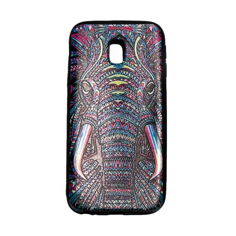 QCF Softcase Luxo Rimba Casing Gambar Elephant Gajah Silicone for Samsung Galaxy J3 Pro J330 2017