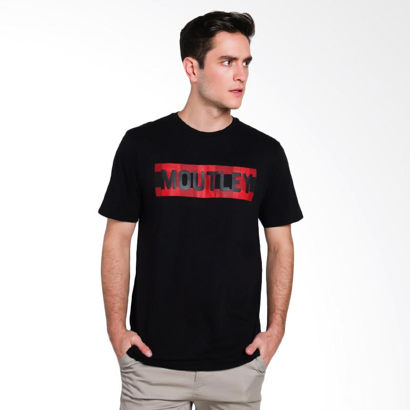 Moutley Male T-Shirt Atasan Pria - Black [1612 316121712]