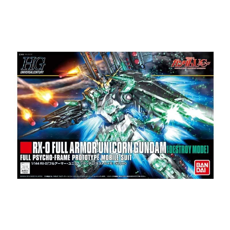 Bandai HGUC RX-0 Full Armor Unicorn Gundam Destroy Mode Model Kit [1:144]