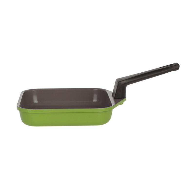NEOFLAM Mitra Square Egg Pan Peralatan Memasak - Green [14 cm]