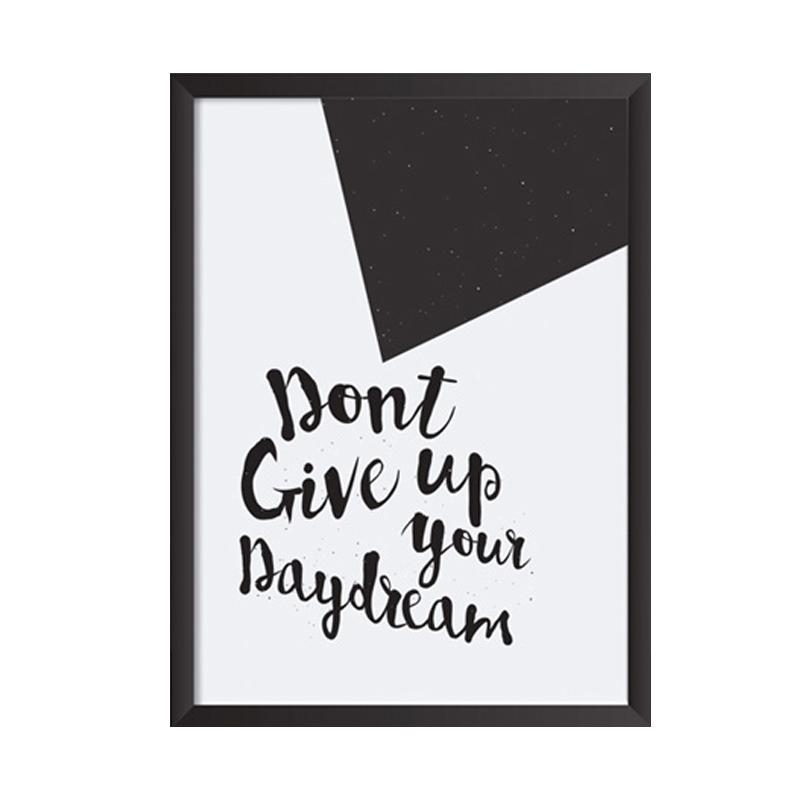 Cadrehome Dont Give Up Daydream A4 Dekorasi Dinding