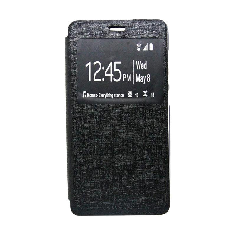 Ume Flip Case Flip Cover Window Casing for Andromax E2 Plus - Hitam