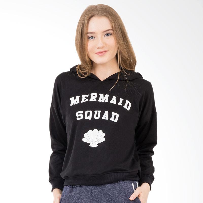 Boontie Mermaid Squad Jacket Hoodie - Black
