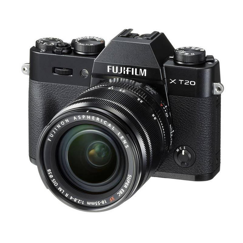 harga Fujifilm X-T20 Kit 18-55mm  f 2.8-4 R LM OIS Kamera Mirrorless - Black + Fuji Instax Share SP2 + Baterai NPW-126S + Sirui Sling Bag (BY CLAIM) Blibli.com