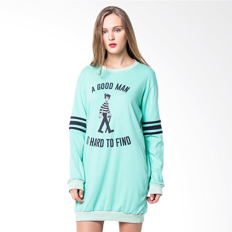 Boontie Good Man Dress Atasan Wanita - Mint Green
