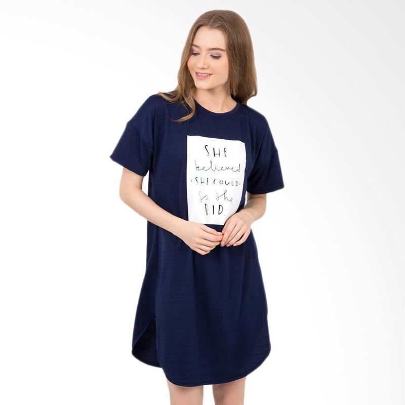 Boontie Believed Dress - Navy