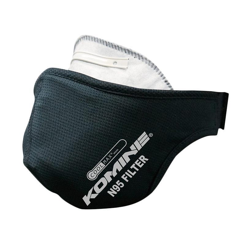 harga KOMINE AK-341 Coolmax N95 Filter Masker Motor - Black Blibli.com
