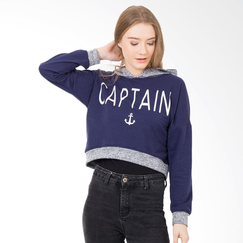 Boontie Captain Jacket Hoodie Wanita - Navy