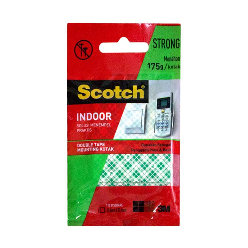 3M  110 - 1D Scotch Mounting Square Double Tape [25.4 mm x 25.4 mm]