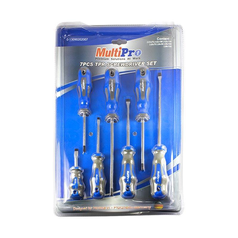 MultiPro 13090202007 Magnet TPR Screwdriver Set Obeng [7 pcs]